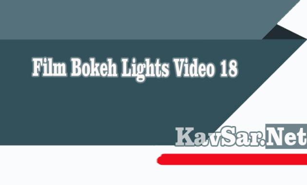 Film Bokeh Lights Video