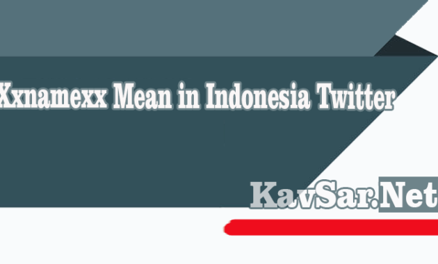 Xxnamexx Mean in Indonesia Twitter